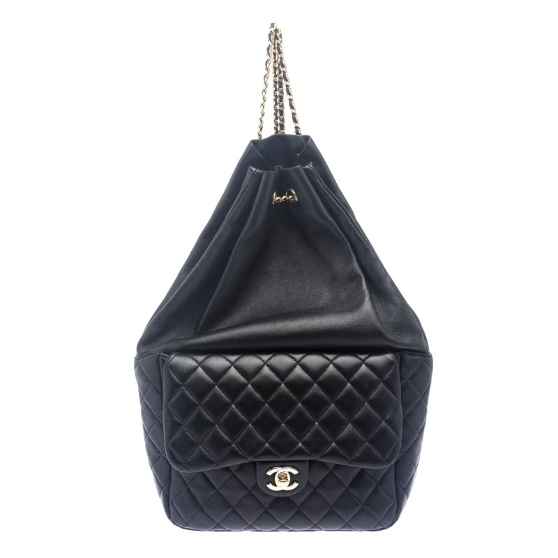 83d2721e236f ... Chanel Black Quilted Leather Large Seoul Backpack. nextprev. prevnext