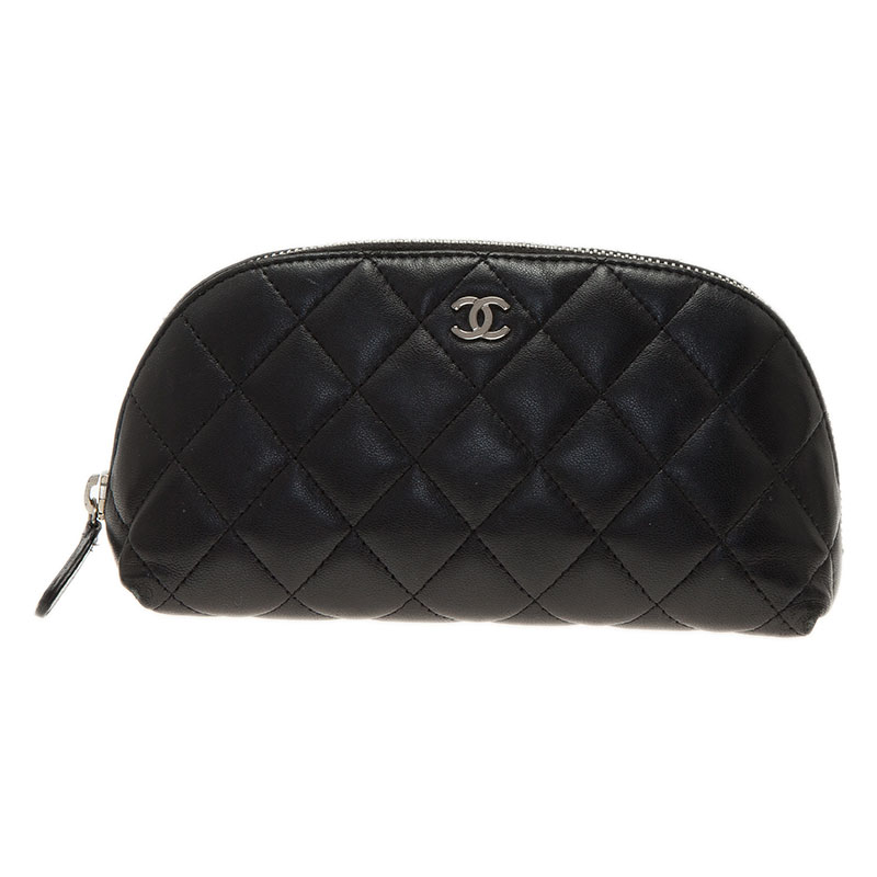 1c9444f036a4 ... Chanel Black Quilted Leather CC Logo Cosmetic Pouch. nextprev. prevnext