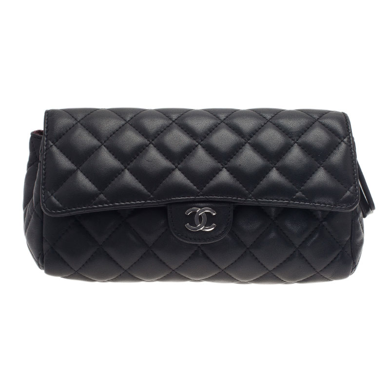 6554729cd0e9a2 Buy Chanel Black Quilted Leather Cosmetic Case 623 at best price | TLC