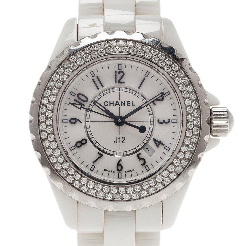 6bd9d2a65 إشتري ساعة يد شانيل J12 ألماس H0967 سيراميك أبيض نسائي 33MM 42865 ...