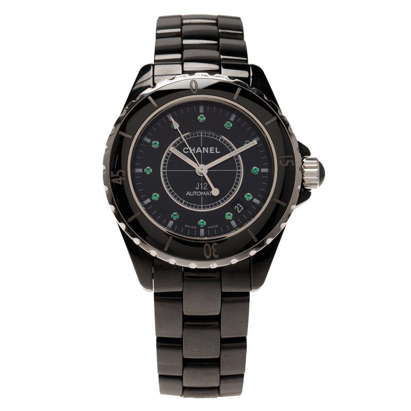 d69382573 إشتري ساعة يد نسائية شانيل J12 سيراميك أسود 38مم 74692 بأفضل الاسعار ...