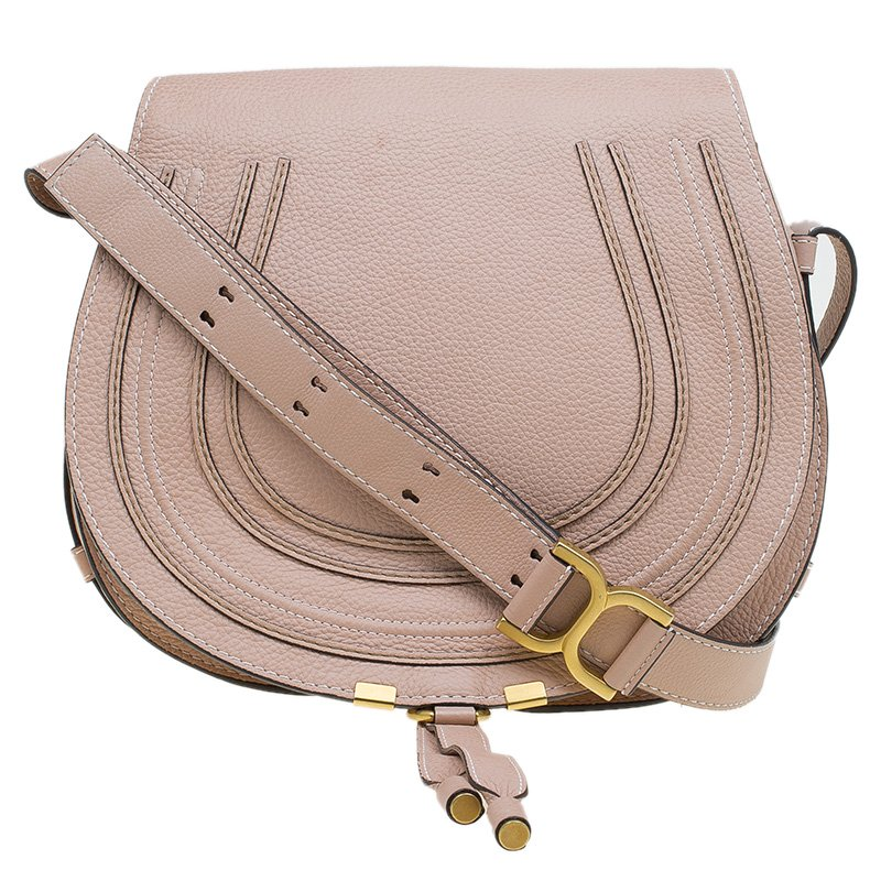 3b507a75e2b Chloe Blush Nude Leather Medium Marcie Crossbody Bag