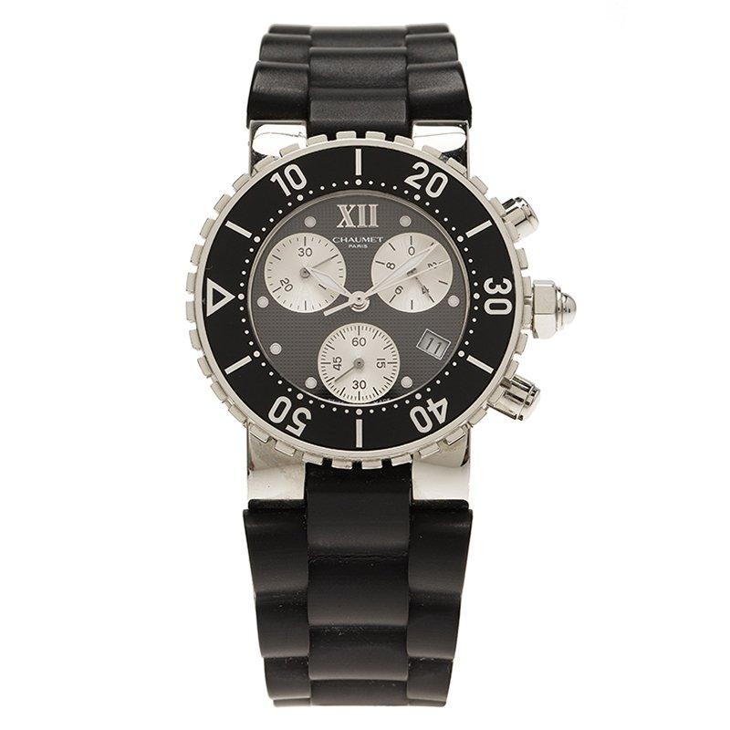 Chaumet Black Stainless Steel Class One 624 Women's Wristwatch 37MM