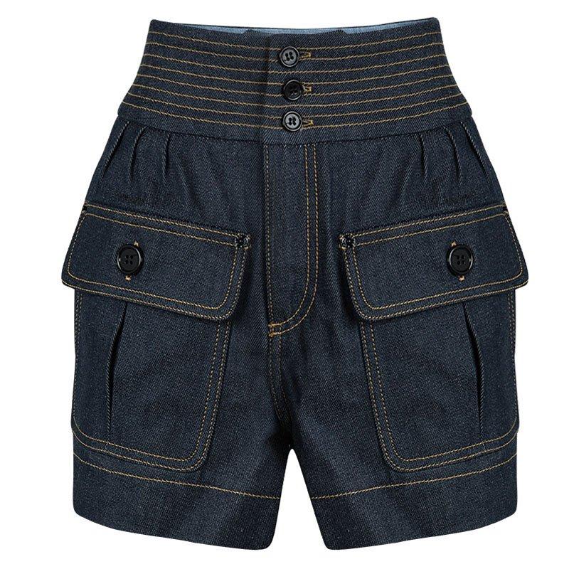 b3ac44c7 Buy Chloe Indigo Raw Denim High Waist Shorts S 94500 at best price | TLC