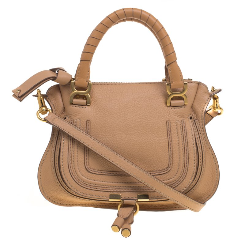 3e5ee10de1 Buy Chloe Tan Leather Small Marcie Shoulder Bag 92456 at best price ...