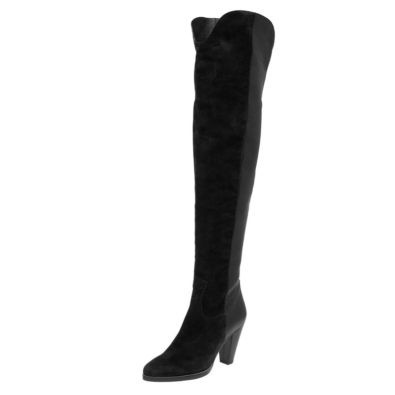 ae8425eb995 ... Chloe Black Leather and Suede Over The Knee Boots Size 36. nextprev.  prevnext