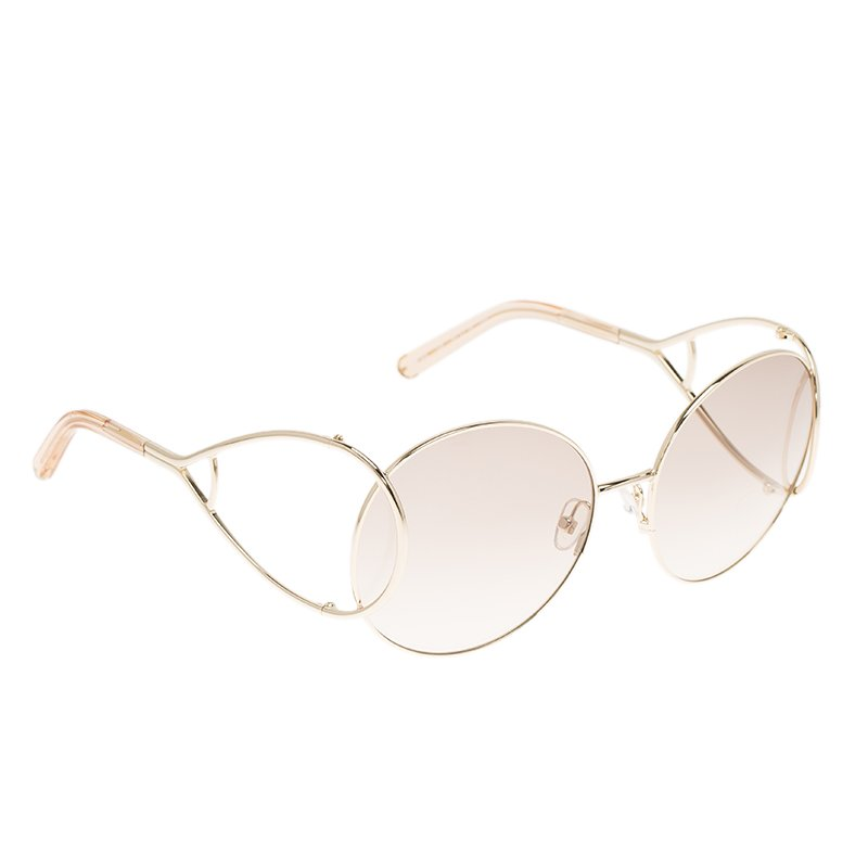 4e2e7ba8e21 Buy Chloe Gold and Peach CE124S Jackson Sunglasses 85311 at best ...