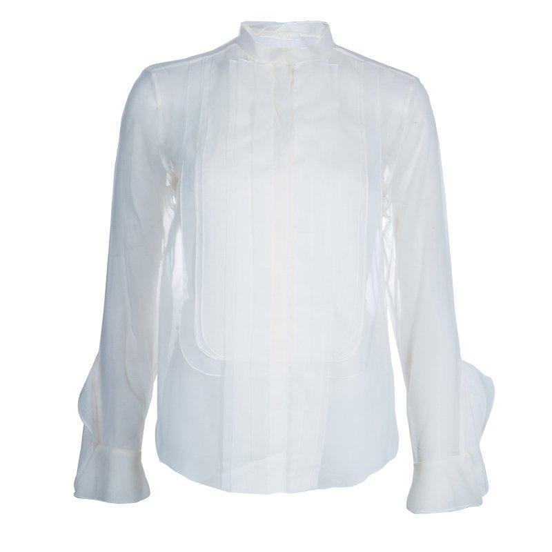 Chloe White Organza Shirt S