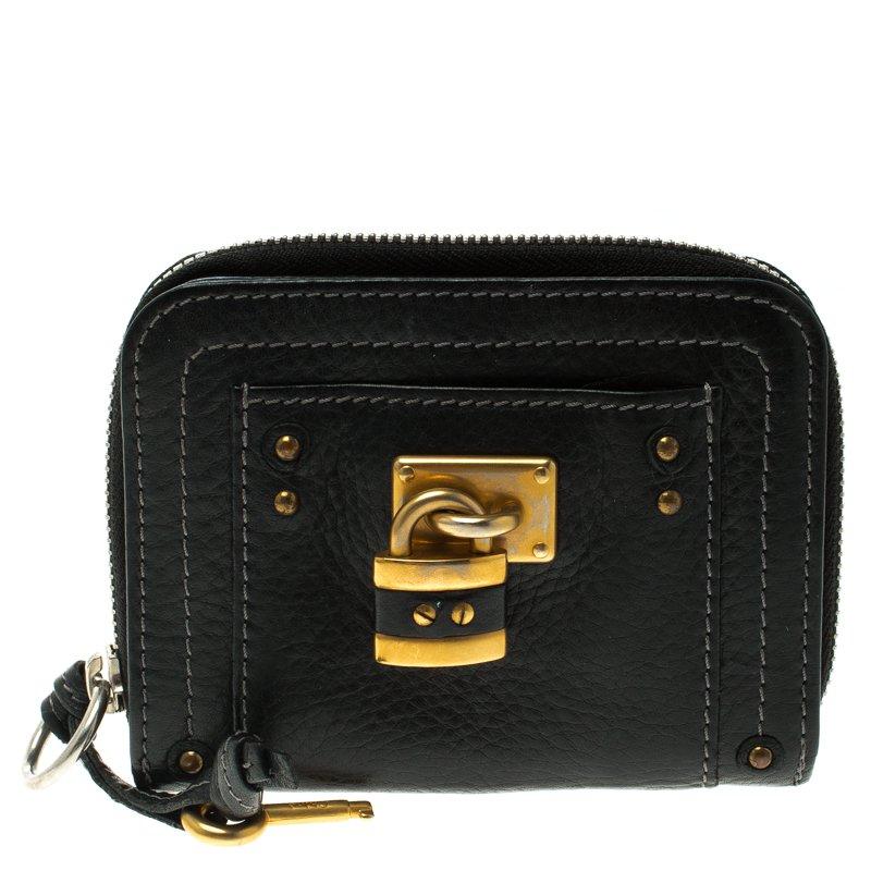 86ef2b6e Buy Chloe Black Leather Paddington Small Wallet 101955 at best price ...