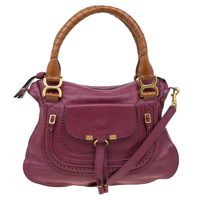 02c4c95f56e ... Chloe Burgundy Leather Medium Marcie Animation Shoulder Bag. nextprev.  prevnext