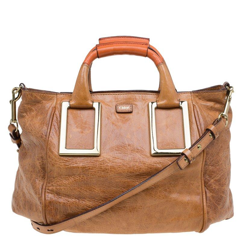 38a6ee57e1 Buy Chloe Brown Leather Ethel Satchel 80475 at best price   TLC