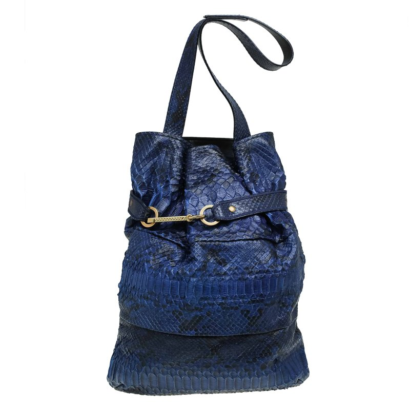 Chloe Blue Python Joan Bucket bag