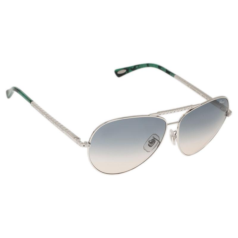 cd94579da Buy Chopard Green and Silver SCH934S Aviators 44468 at best price   TLC