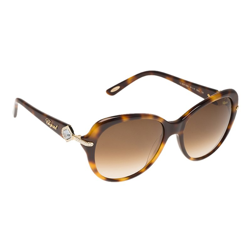 Jewel Frame Sunglasses 130s Embellished Chopard Sch Brown dtrsQhxC