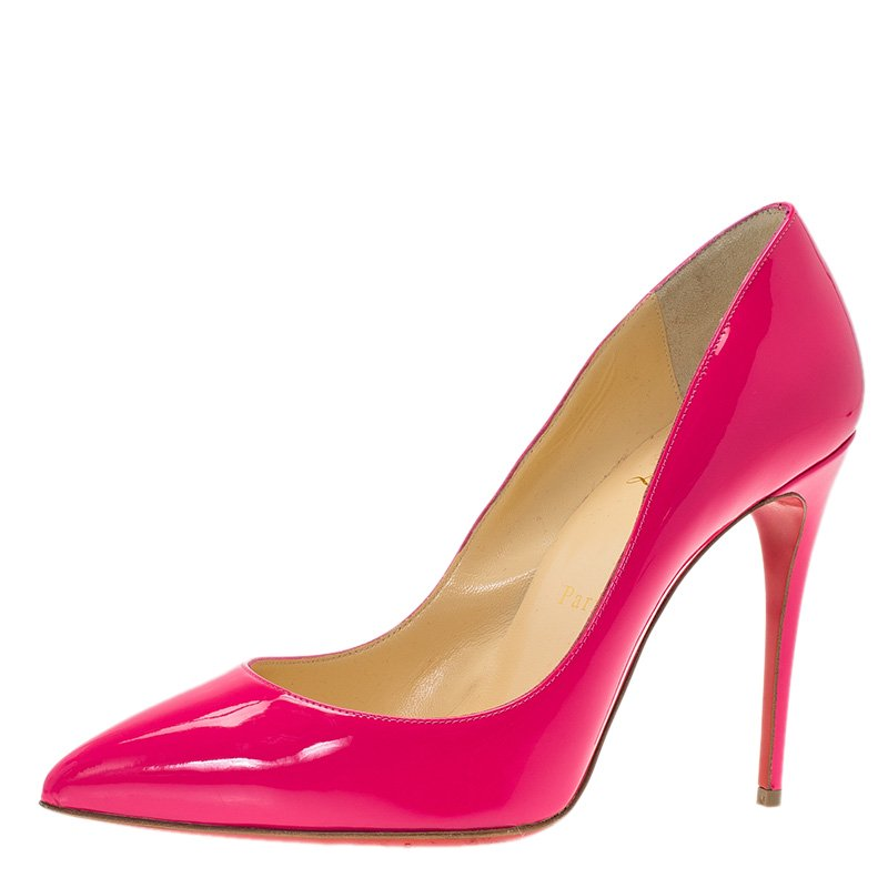 a2670fca74f Christian Louboutin Pink Patent So Kate Pumps Size 38