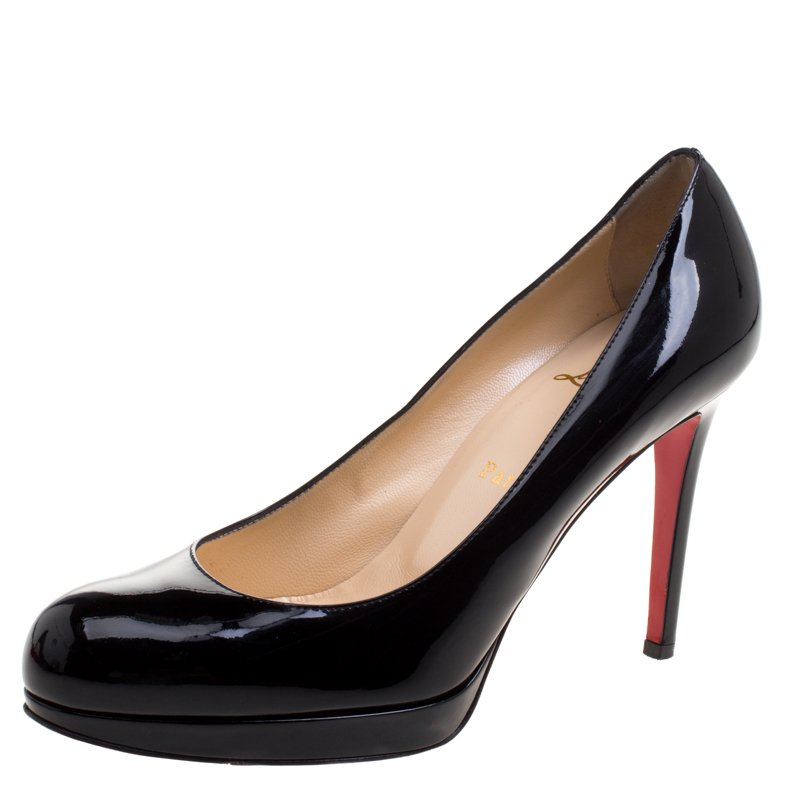 47a11228291 Christian Louboutin Black Patent Leather New Simple Pumps Size 37