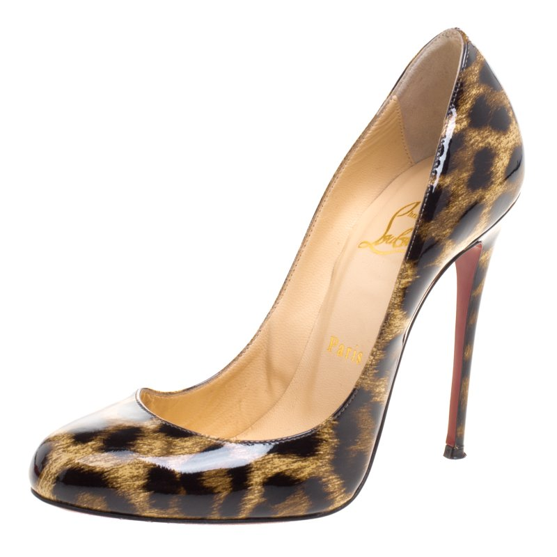 Preowned Christian Louboutin New Sold Out White Leopard