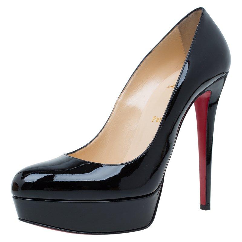87c3a9c86952 ... Christian Louboutin Black Patent Bianca Platform Pumps Size 40.5.  nextprev. prevnext