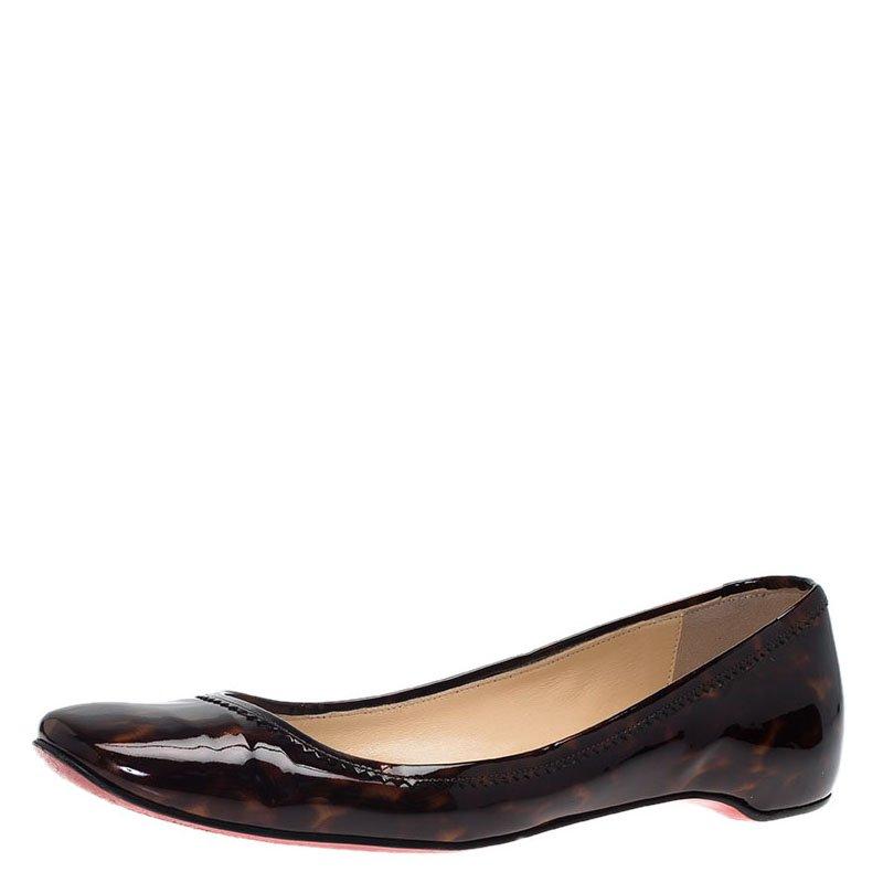 54e95fb726f ... Christian Louboutin Tortoise Shell Patent Square Toe Ballet Flats Size  39. nextprev. prevnext