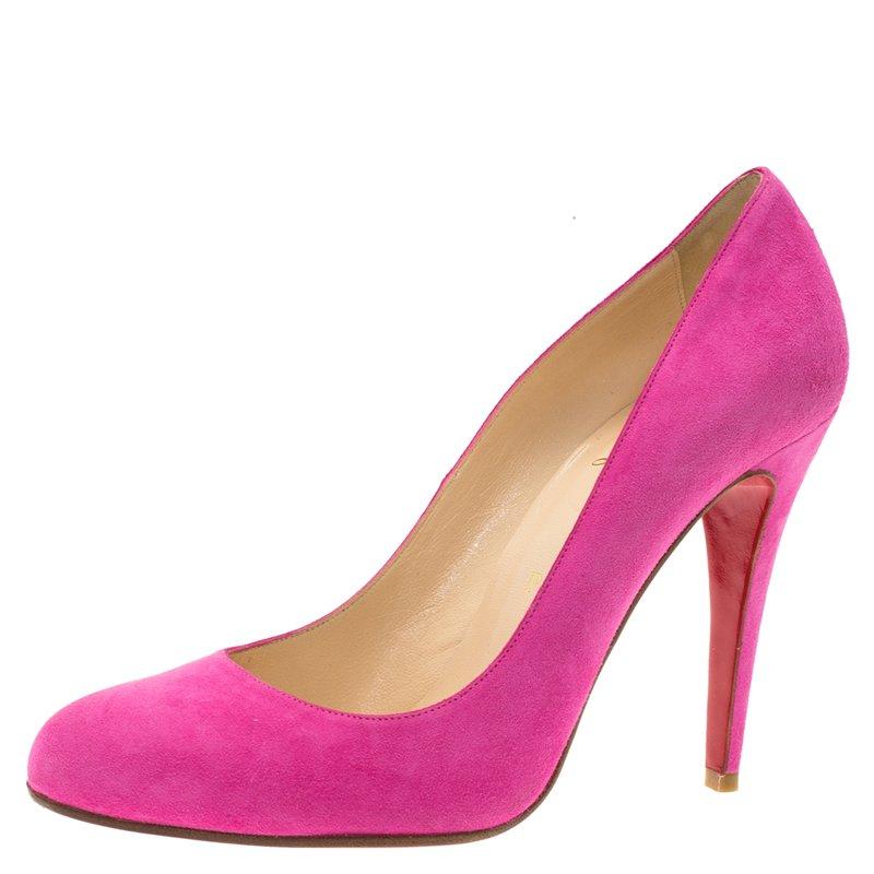 plus récent 96973 afa00 Christian Louboutin Pink Suede Ron Ron Pumps Size 39.5