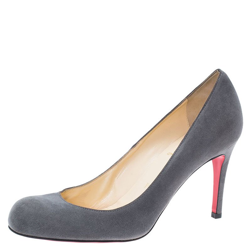 Christian Louboutin Grey Suede Simple