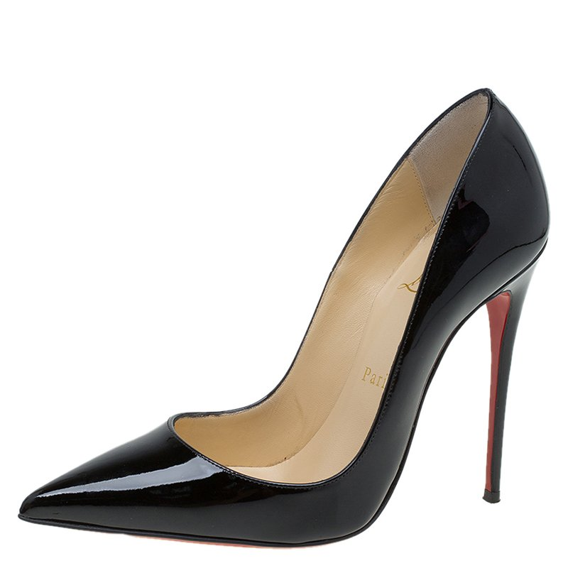 84c830ecf6e Buy Christian Louboutin Black Patent So Kate Pumps Size 37 84083 at best  price