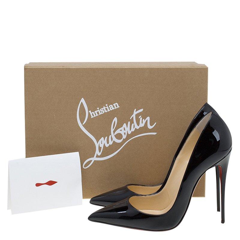 online store 8dfc7 96606 Christian Louboutin Black Patent So Kate Pumps Size 37