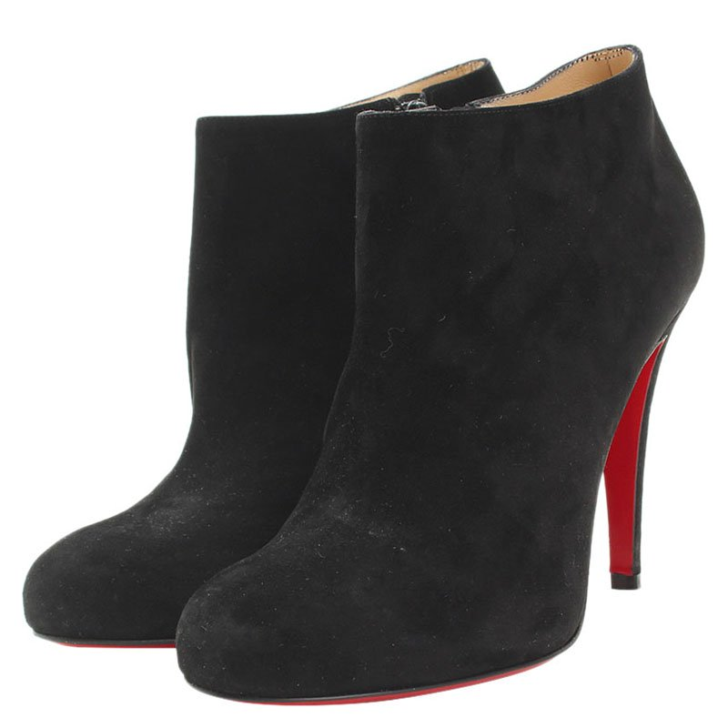 ... Christian Louboutin Black Suede Belle Ankle Boots Size 38. nextprev.  prevnext 1384967475