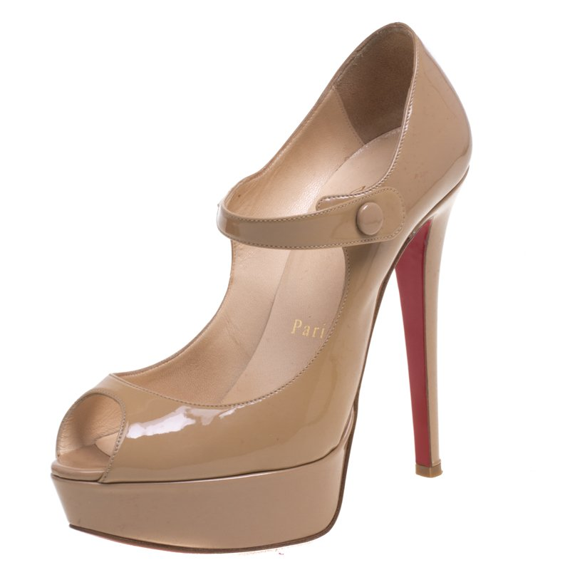 christian louboutin mary jane platform pumps