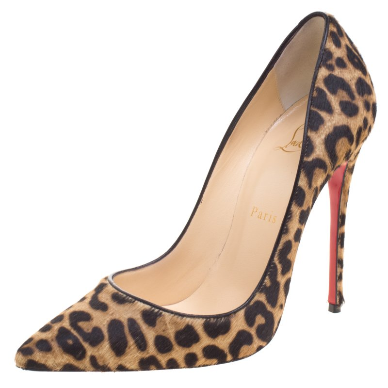 8b077869f422 ... Christian Louboutin Leopard Print Pony Hair So Kate Pumps Size 37.5.  nextprev. prevnext