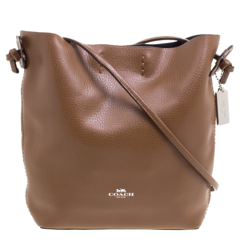 1e9831be0034 Buy Coach Brown Leather Derby Crossbody Bag 102643 at best price