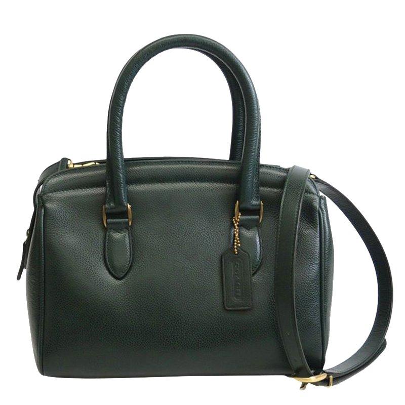 006a5344b7fe ... Coach Dark Green Leather Vintage Madison Sutton Satchel. nextprev.  prevnext