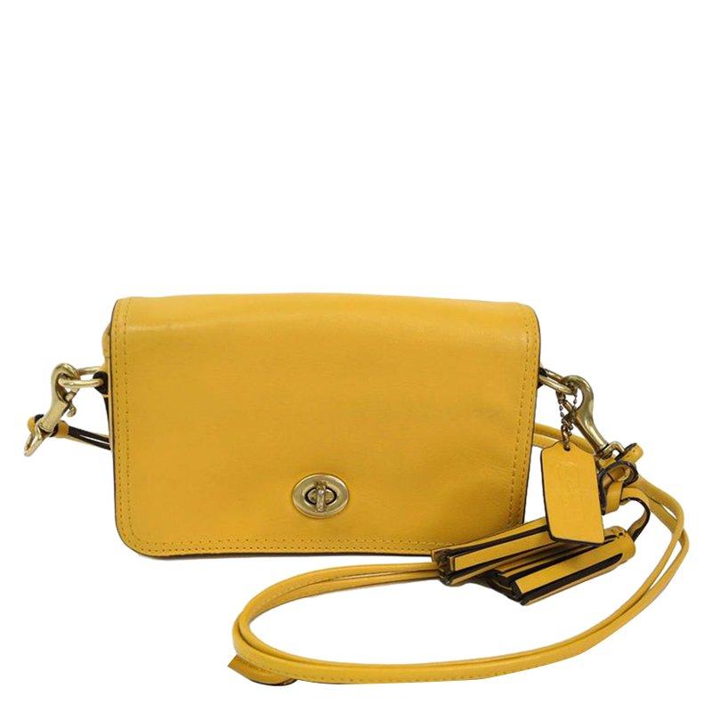 19f3f8eccd ... Coach Yellow Leather Legacy Penny Shoulder Bag. nextprev. prevnext