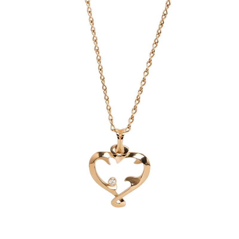 0047ee878f7f9 De Beers Heart in Rose Diamond Rose Gold Sautoir Necklace