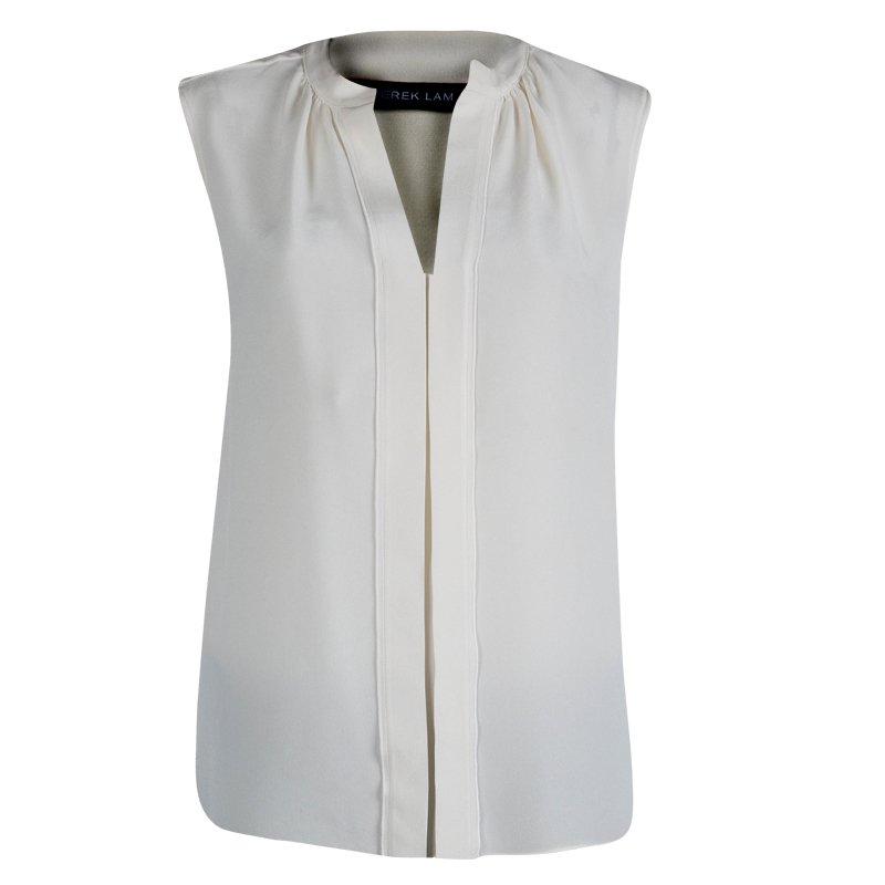 Derek Lam Cream Silk  Sleeveless Top M