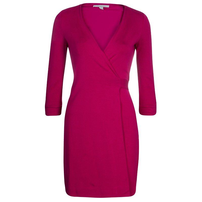 a94a6b0d8a1c ... Diane von Furstenberg New Julian Two Mini Pink Dahlia Wrap Dress S.  nextprev. prevnext