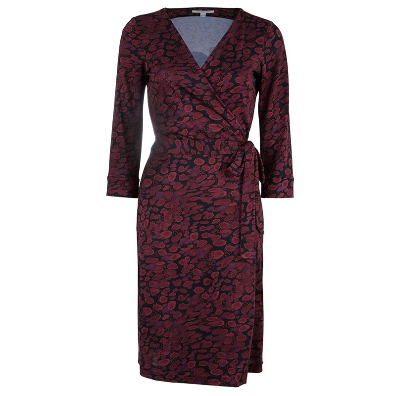 Diane Von Furstenberg Red New Julian Two Wrap Dress M