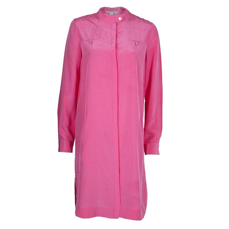 4f557ce70209e Buy Diane Von Furstenberg Hot Pink Marianna Silk Shirt Dress M 57956 ...