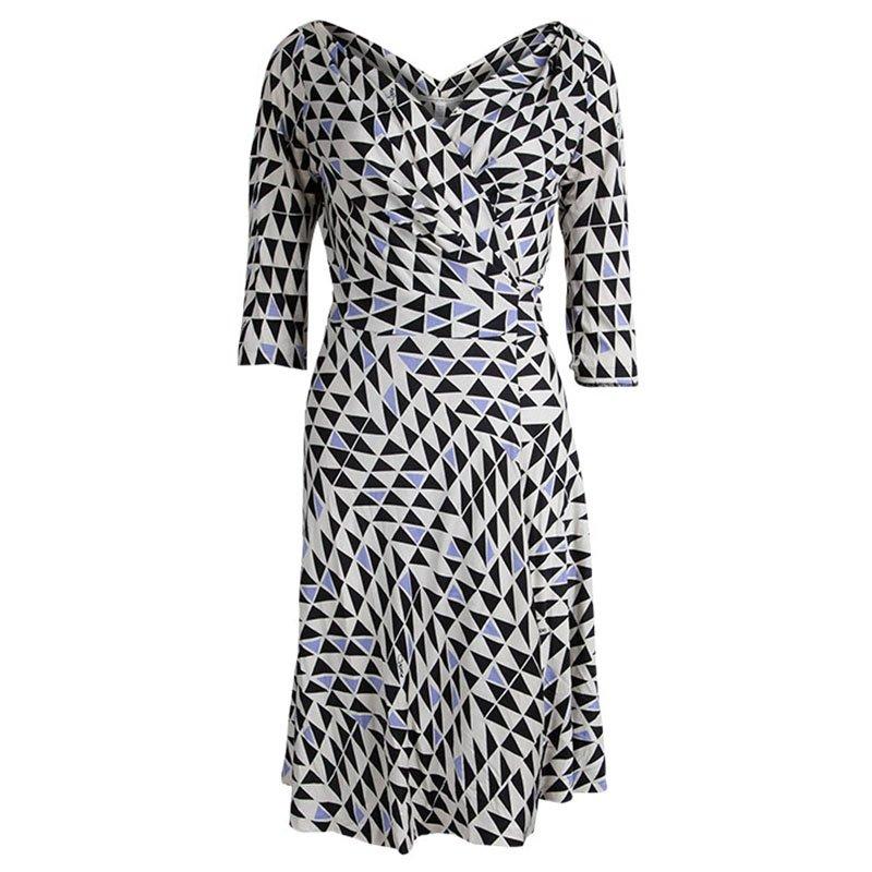 c868ca3c0923 ... Diane von Furstenberg Geometric Printed Silk Jersey Penna Wrap Dress M.  nextprev. prevnext