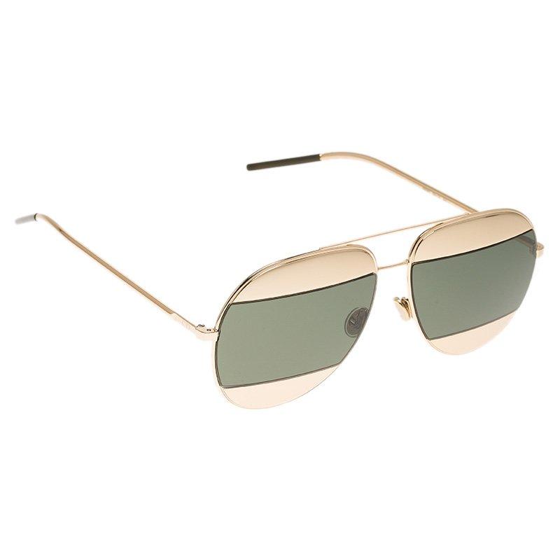 Dior Gold Split1 Aviator Sunglasses