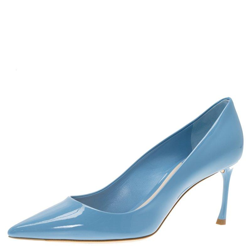 Dior Light Blue Patent Leather Pumps