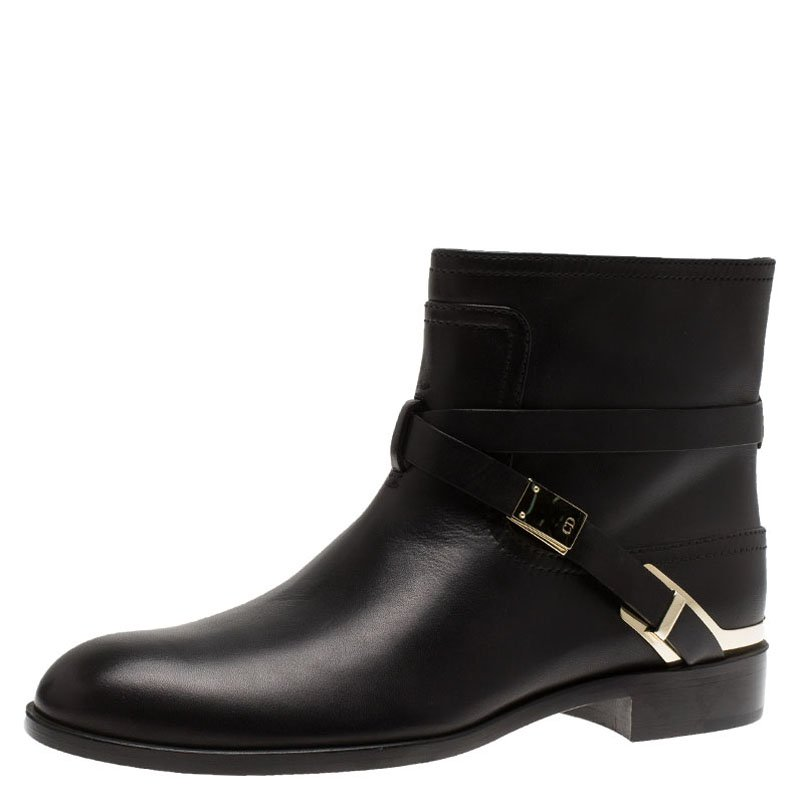 Buy Dior Black Leather Ride Low Ankle Boots Size 39 88865 at best ... 81bead26d5