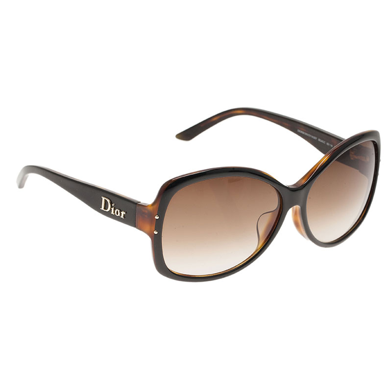 Dior Tortoise Frame Bon Voyage Square Sunglasses