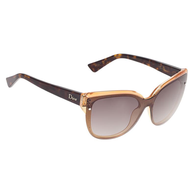 cdffcc3c255e Buy Dior Brown Glisten 1 Cat Eye Sunglasses 40169 at best price   TLC