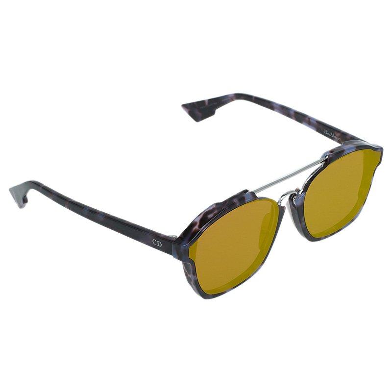 Dior Purple and Orange Reflective Abstract Square Sunglasses
