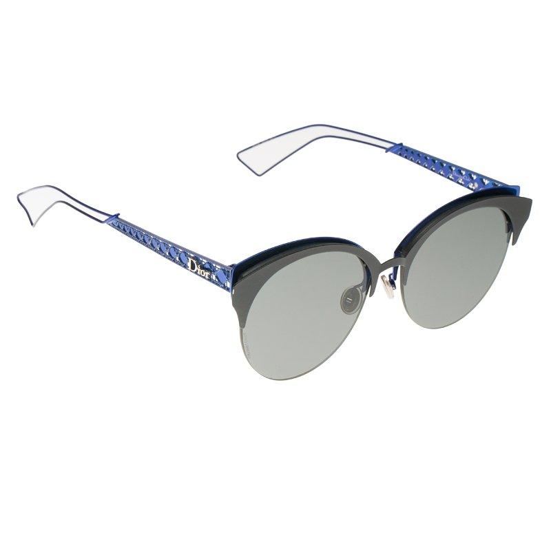 b452e756d Buy Dior Diorama Club Black and Blue Round Sunglasses 62625 at best ...