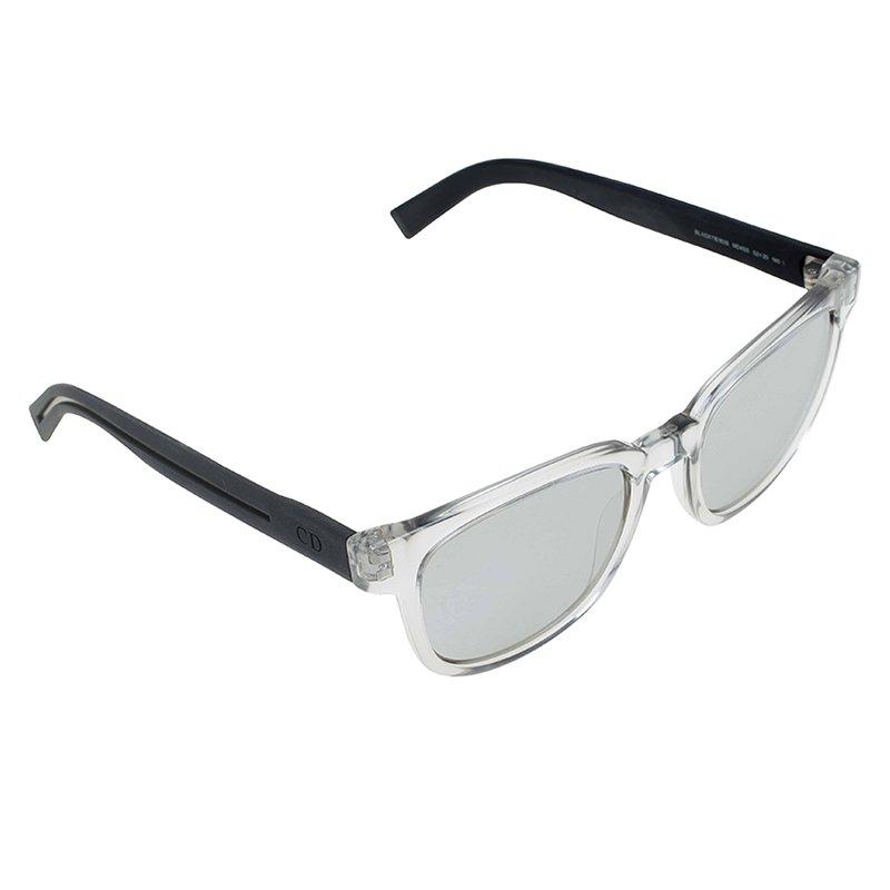 Dior Grey Transparent 183S Black Tie  Sunglasses