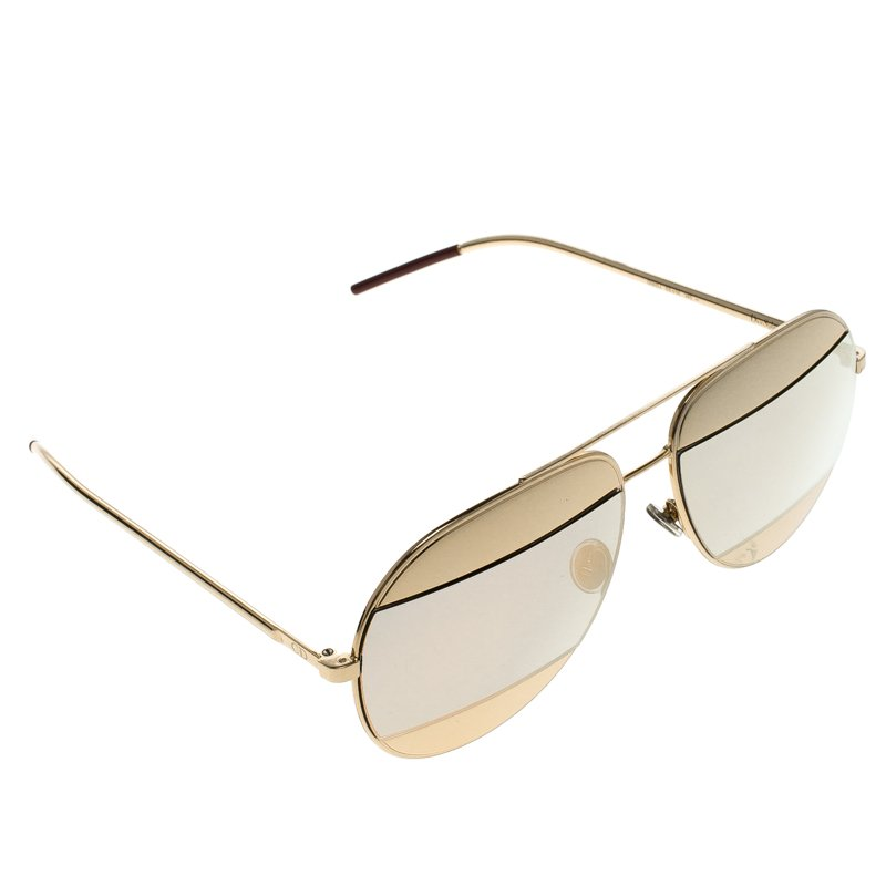 43ec6ccb510a7 Buy Dior Gold Purple Split 1 Aviator Sunglasses 99223 at best price ...