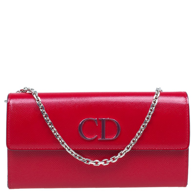 Buy Dior Red Leather Mania Rendez-Vous Wallet on Chain 45633 at best ... 7fc09352e2e41