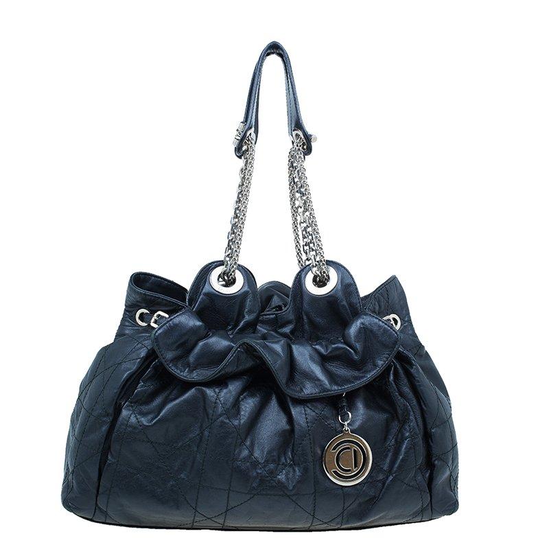 36f83ddbb217 ... Dior Black Leather Large Cannage Le Trente Hobo Bag. nextprev. prevnext
